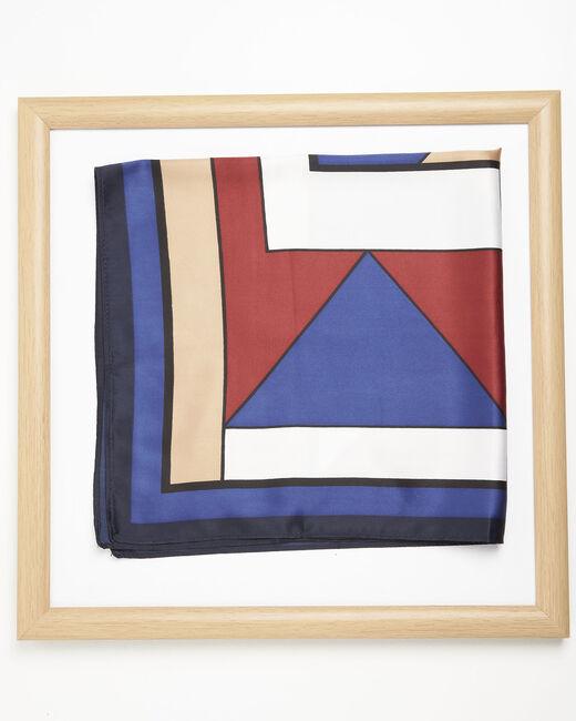 Foulard marine imprimé géométrique Follow (2) - 1-2-3