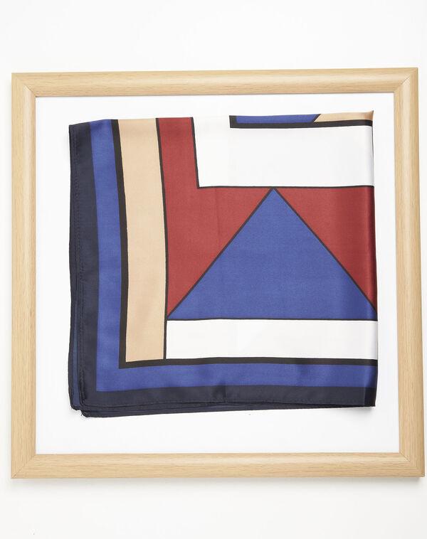 Donkerblauwe sjaal met geometrische print Follow (1) - 37653