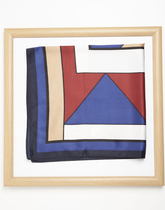 Follow geometric print navy blue scarf PhotoZ | 1-2-3