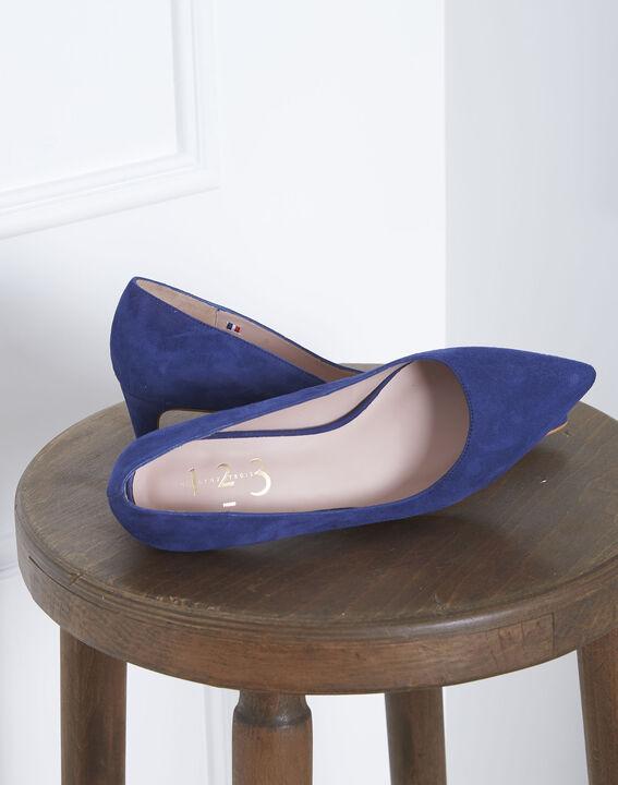 Blaue Pumps aus Ziegenveloursleder Lili (2) - Maison 123