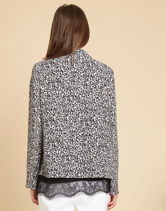 Veste tailleur imprimé léopard Carambole (3) - 1-2-3