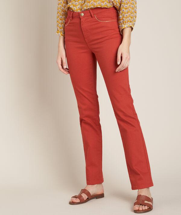 L'Original 123 : jean droit brique Sonia  PhotoZ | 1-2-3