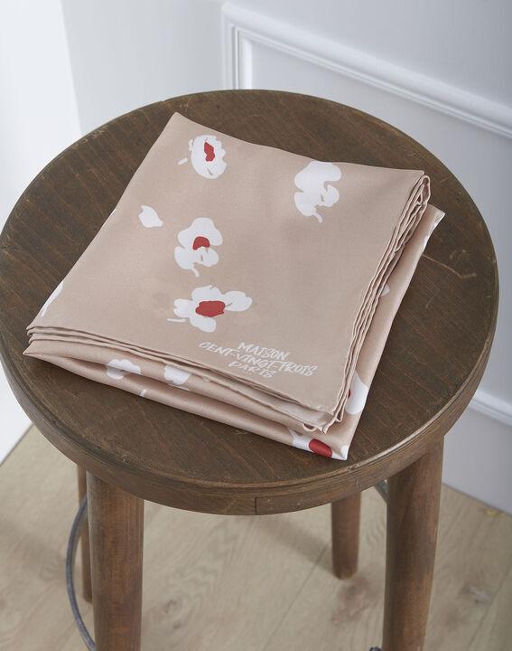 Carré de soie poudre imprimé fleuri Osaka PhotoZ   1-2-3