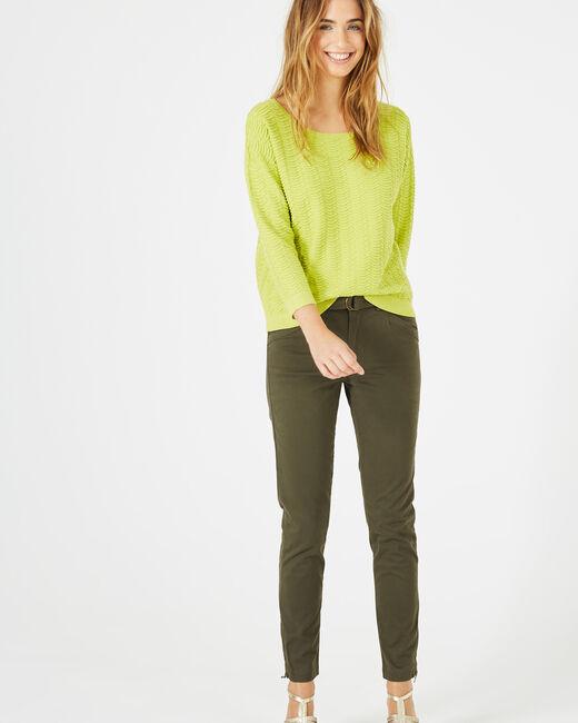 Kloe khaki 7/8 length trousers (1) - 1-2-3