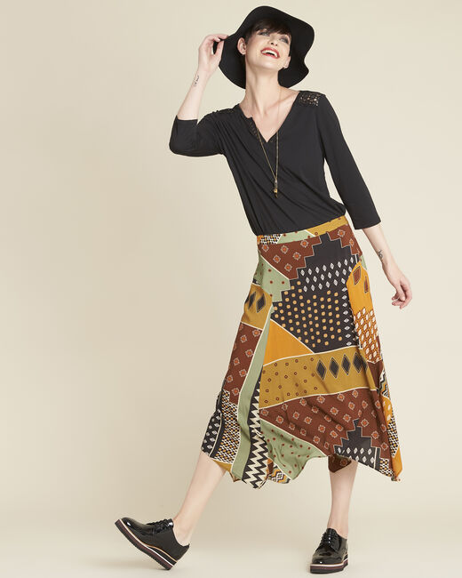 Arome long printed patchwork skirt (1) - 1-2-3