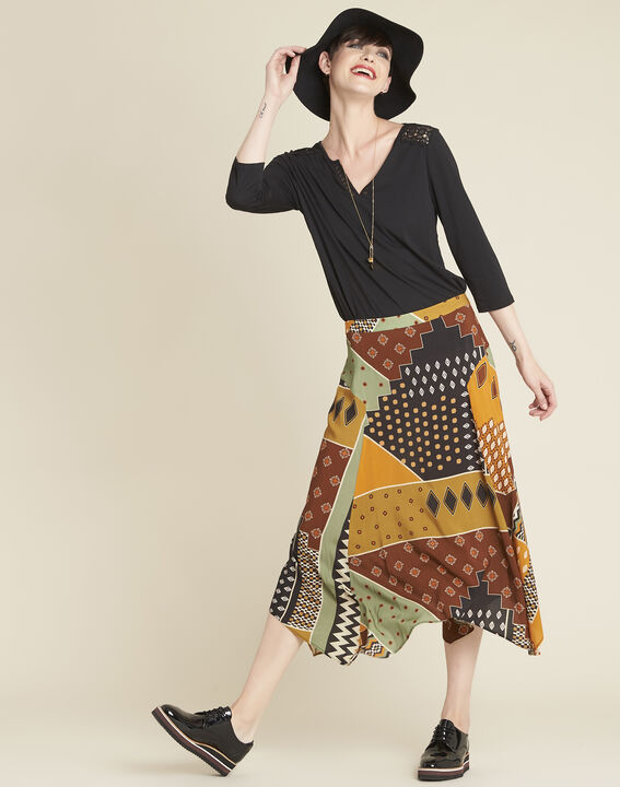 Arome long printed patchwork skirt (2) - Maison 123