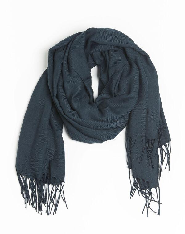 Fossette fringed dark green scarf (2) - 1-2-3