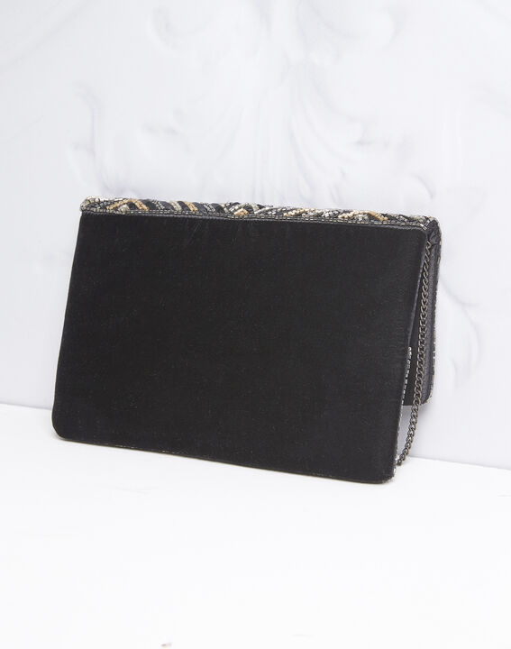 Idéal sequinned black clutch bag (4) - 1-2-3