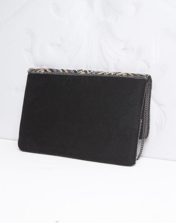 Zwarte enveloptas met lovertjes Idéal (4) - 37653