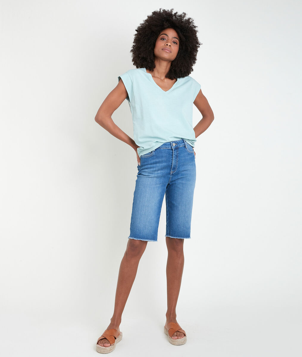 Tee-shirt en coton biologique céladon Ideal PhotoZ   1-2-3