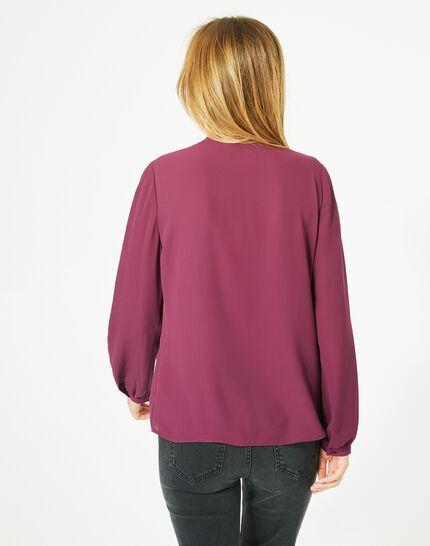Doris blackcurrant blouse with long sleeves (5) - 1-2-3