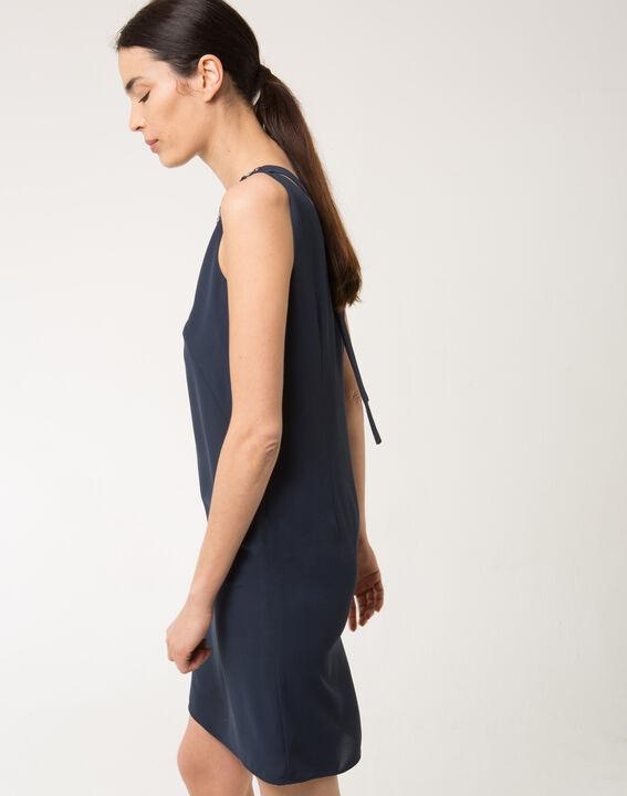 Robe bleue strass sur col Felicie (3) - 1-2-3