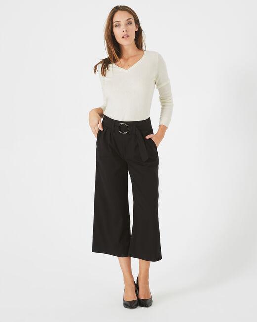 Pantalon noir cropped Kris (2) - 1-2-3