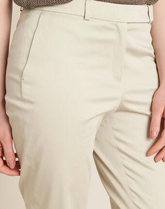 Pantalon beige 7/8ème rubis ficelle.