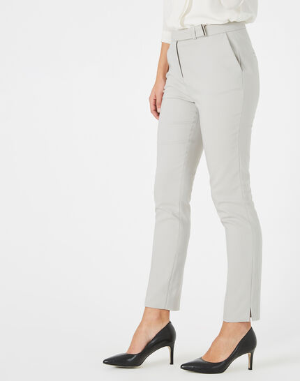 Pauline tailored grey trousers with buckle (1) - 1-2-3