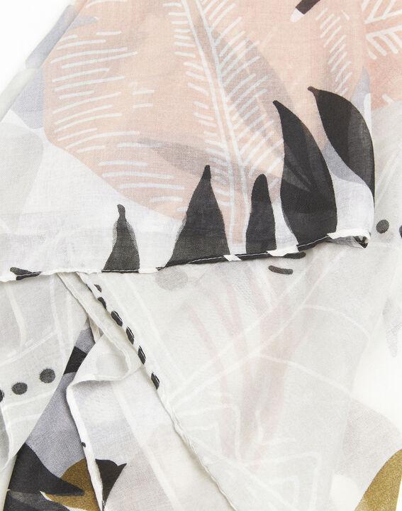 Rosa Schal mit Druckmuster Frivole (2) - 1-2-3
