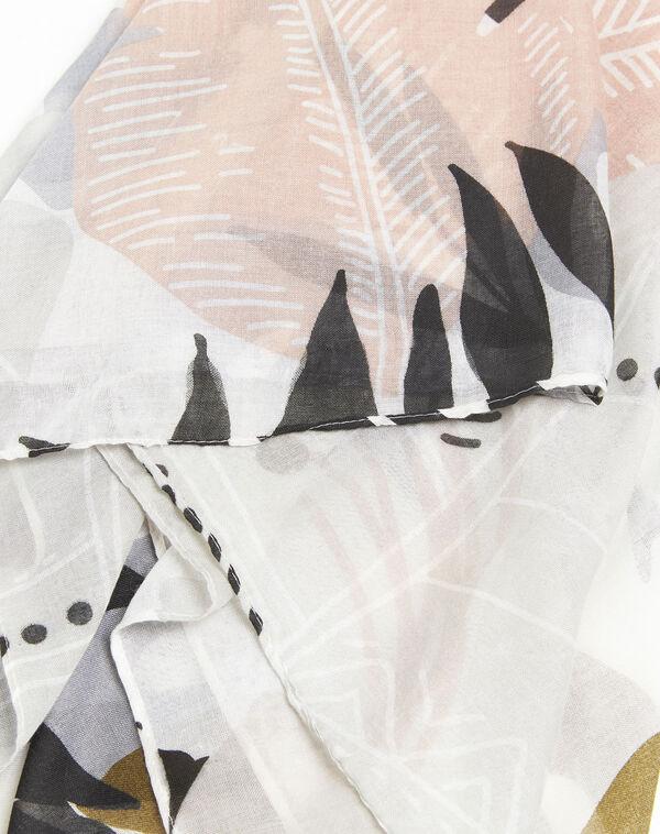 Roze sjaal met print Frivole (1) - 37653