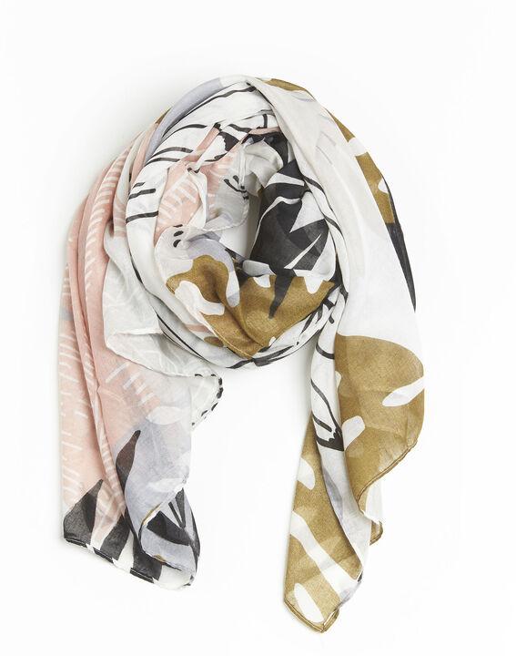 Roze sjaal met print Frivole PhotoZ | 1-2-3