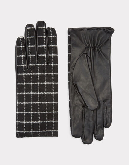 Grau-schwarze Karo-Handschuhe Zephyr (1) - 1-2-3