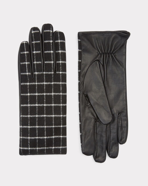 Zephyr black and grey check gloves (2) - 1-2-3