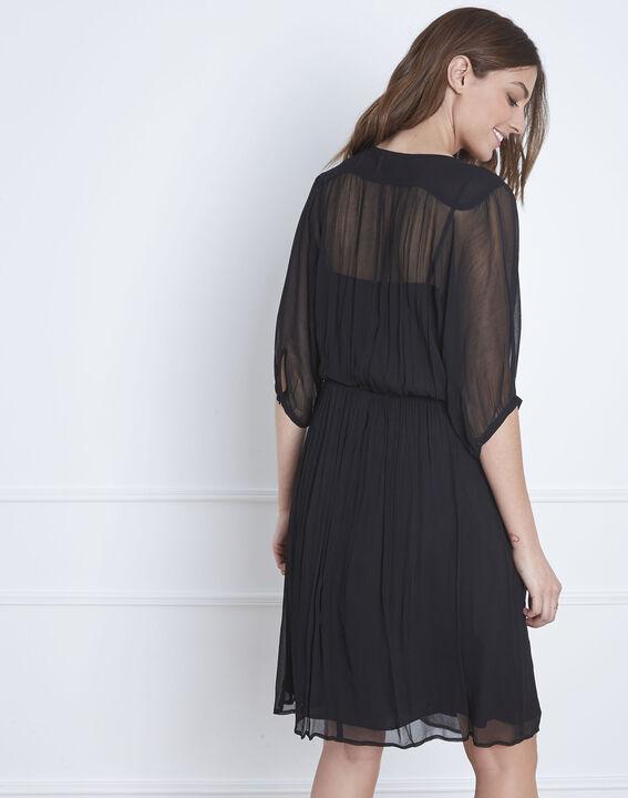 Schwarzes, besticktes Kleid Lotus (4) - Maison 123