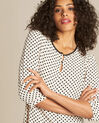 Gastric pastel blouse with black polka dots (1) - 1-2-3