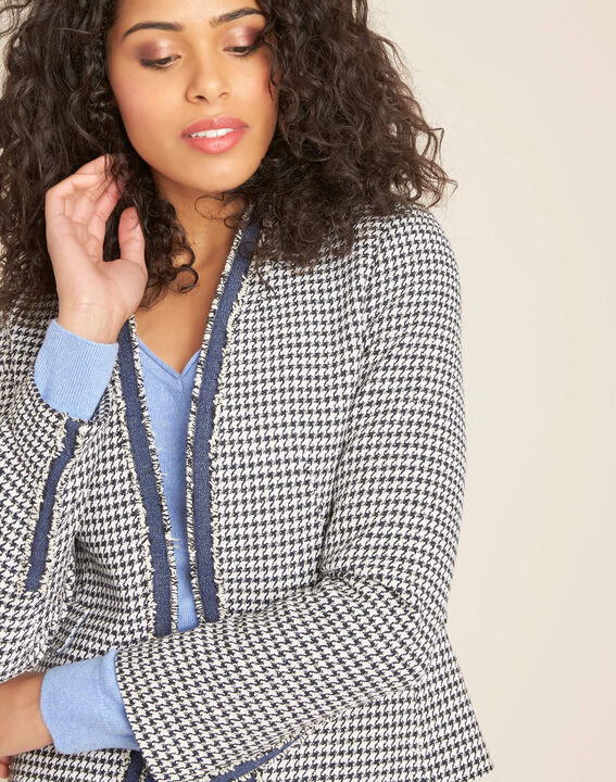 Carmela houndstooth print jacket PhotoZ | 1-2-3