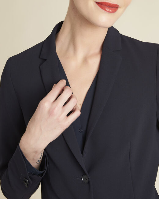 Veste courte de tailleur bleu marine Eve (2) - 1-2-3