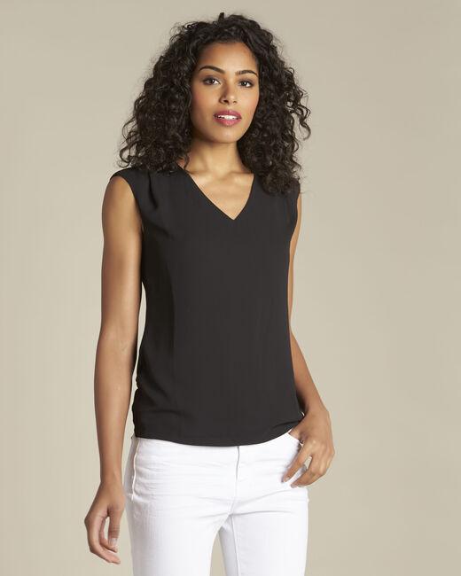 Zwart T-shirt met V-hals Neptune (1) - 37653