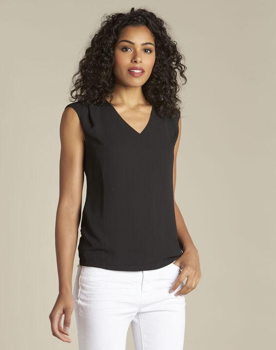 T-shirt noir col V Neptune PhotoZ | 1-2-3
