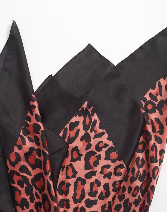 Carré de soie rose imprimé léopard Ana (1) - 1-2-3