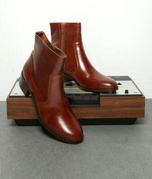 Boots courtes en cuir marron Harmony