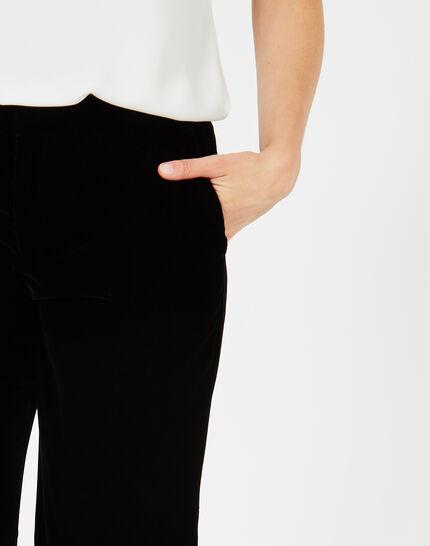 Kendal black velour trousers (3) - 1-2-3