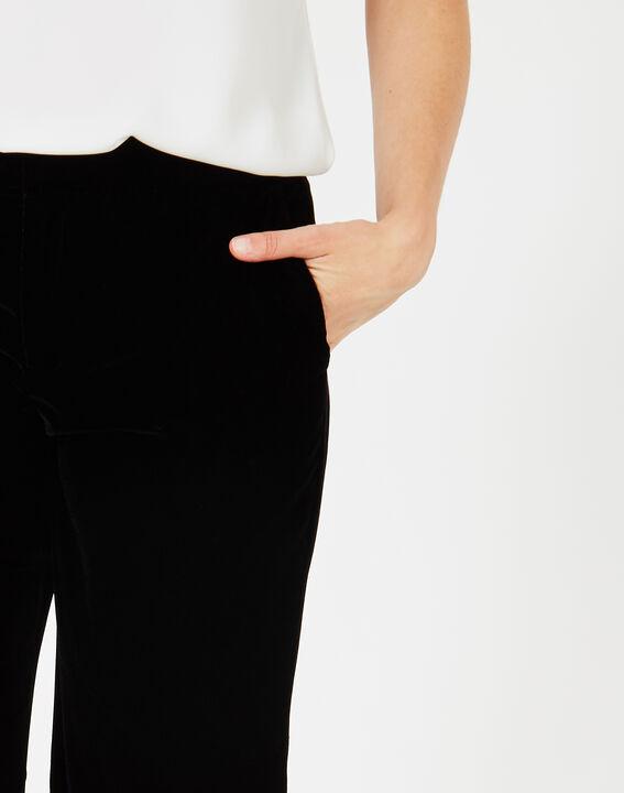 Pantalon noir en velours Kendal (3) - 1-2-3