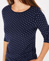 Pastille blue sweater with polka dots (4) - 1-2-3