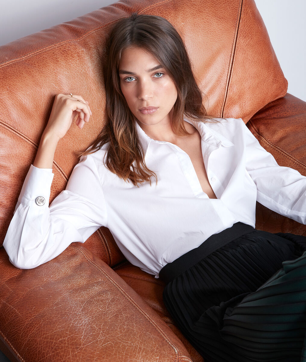 Chemise intemporelle en coton blanc Esmeralda PhotoZ | 1-2-3