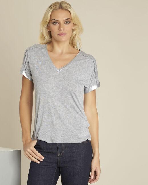 Tee-shirt gris détails épaules Glitter (2) - 1-2-3