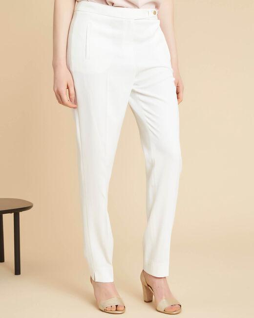 Lara white tapered trousers (2) - 1-2-3