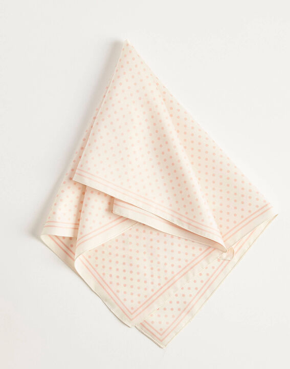 Adelita ecru square scarf with polka dots (3) - 1-2-3