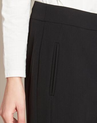Pantalon noir droit en microfibre vasco noir.