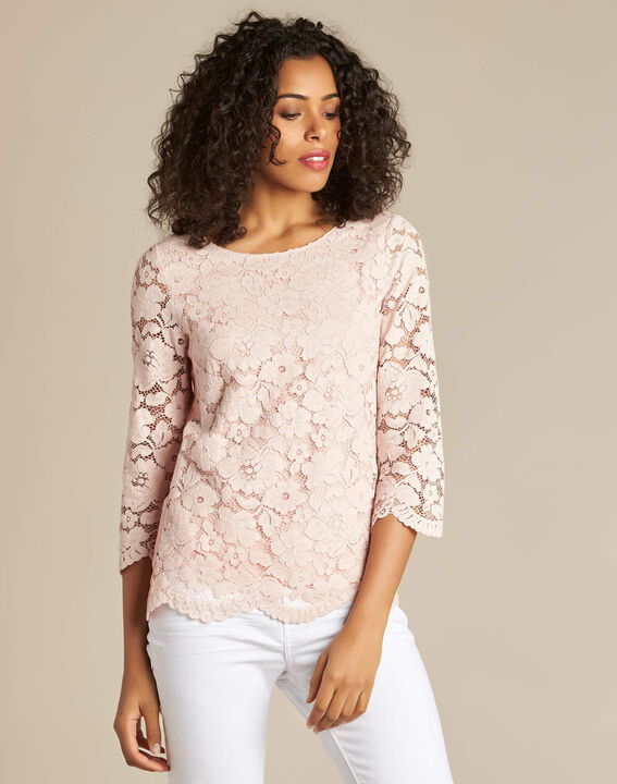 Geraldine powder pink blouse in lace (3) - 1-2-3
