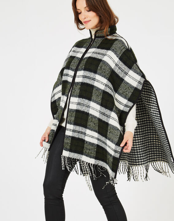 Karierter Poncho in British Green Edward (2) - 1-2-3