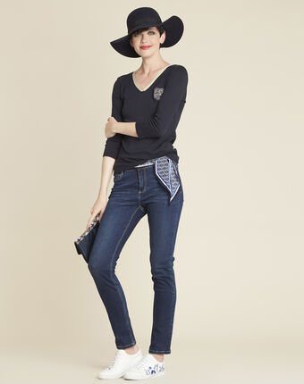 Vendôme navy blue slim-cut jeans navy.