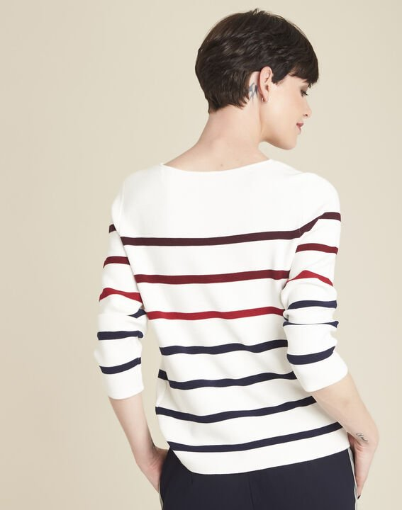 Berlingot ecru striped jumper (4) - 1-2-3