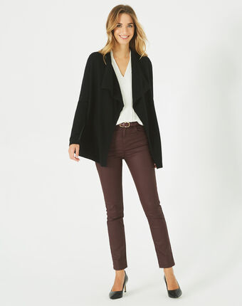 Oliver ⅞-length, coated, burgundy jeans bordeaux.