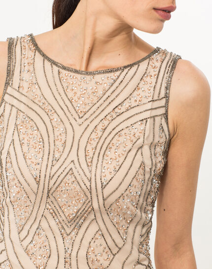 Floride nude embroidered dress (5) - 1-2-3