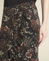 Anis black skirt with floral print (3) - 1-2-3