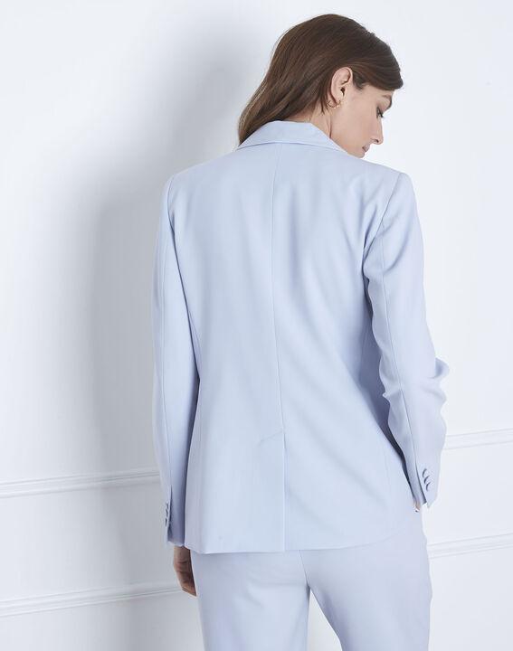 Veste bleu clair col chale Stella (4) - Maison 123