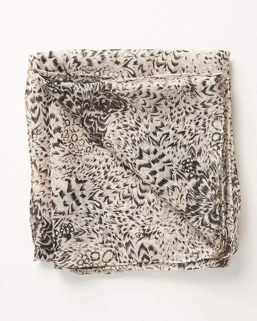 Foulard noir imprimé détails dorés Amy (2) - 1-2-3
