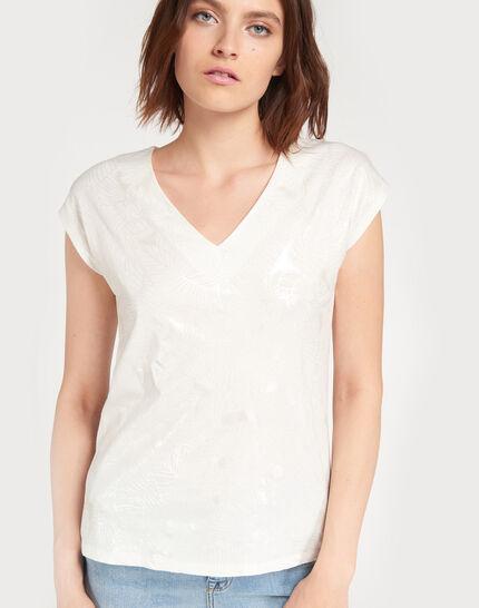 Tee-shirt écru imprimé fleuri Nalma (1) - 1-2-3